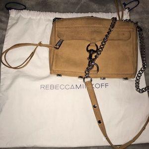 Rebecca Minkoff Mini M.A.C brown suede crossbody